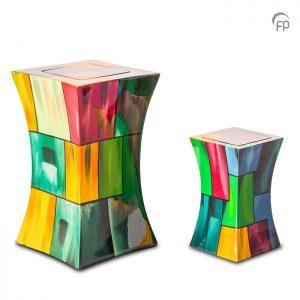 Glasfiber urnen, diabolo multicolor,