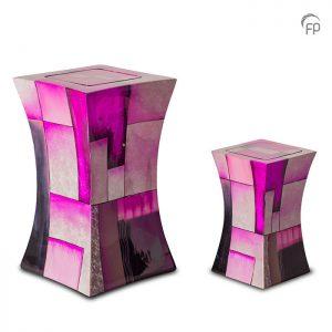 Glasfiber urnen, diabolo roze