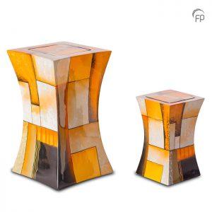 Glasfiber urnen, diabolo oranje