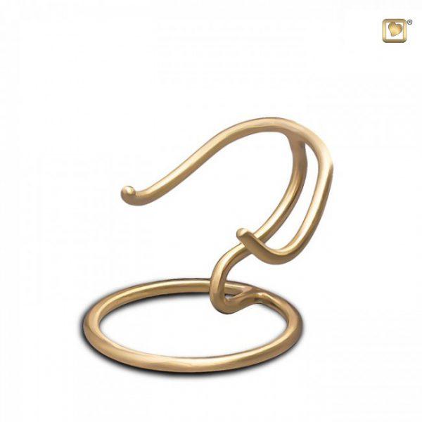 Standaard, zilver&goud, geschikt voor messing urn hart.