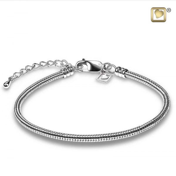 Slangen rhodium plated Treasure™armband