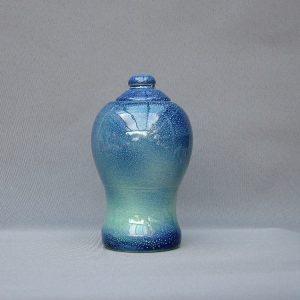 Keramische eigen ontwerp keepsake urn, Blauwgroen