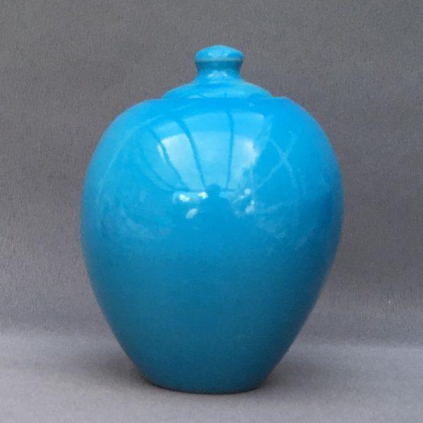 Keramische eigen ontwerp keepsake urn, Lichtblauw