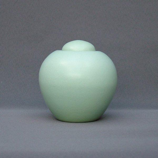 Keramische eigen ontwerp keepsake urn, Mintgroen
