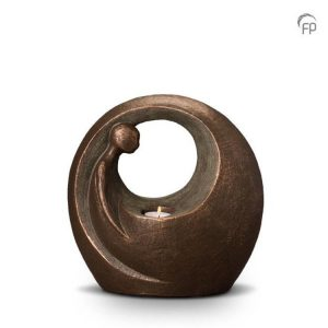 Keramische urn Eenzaam maar niet alleen - waxine
