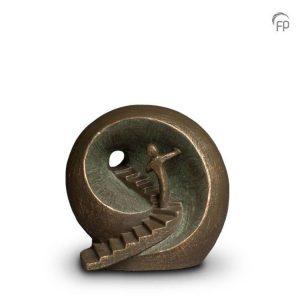 Keramische urn Naar het licht - middelgroot