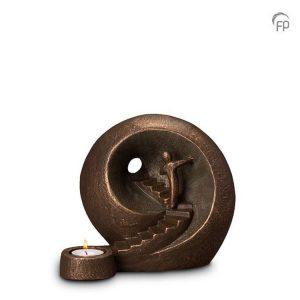 Keramische urn Naar het licht - middelgroot waxine