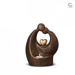 Keramische urn Verlichte troost - middelgroot waxine