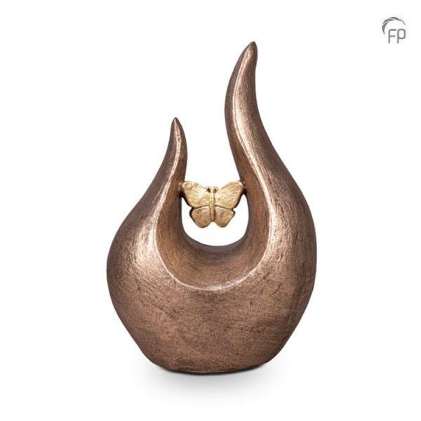 Keramische urn Fuego vlinder