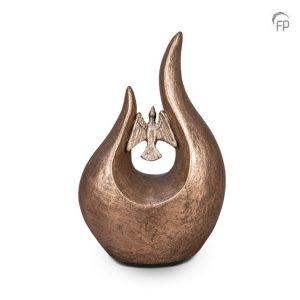 Keramische urn Fuego vogel