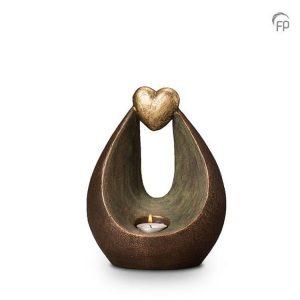 Keramische urn Verlichte hart - middelgroot waxine
