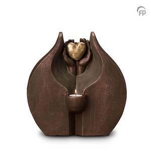 Keramische urn Verborgen liefde - waxine