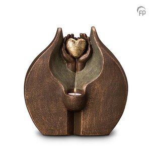 Keramische urn Verborgen liefde - DUO waxine