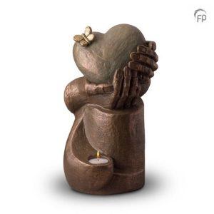 Keramische urn Hartepijn op zuil - waxine