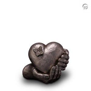 Keramische urn Hartepijn - middelgroot zilver