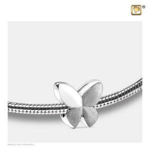 Asbedel Vlinder Zilver Grijs