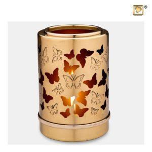 Mini Urn En Messing Kaarsenhouder Met Vlinders