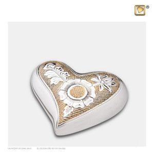 H250 - Mini Urn Hart Design Bloem