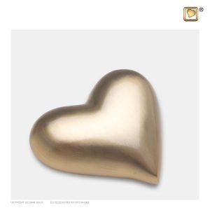 K600 - Mini Urn Hart Design Mat Goud