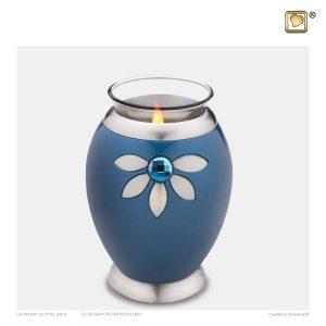 T271 - Urn Waxinelichthouder Nirvana Azure