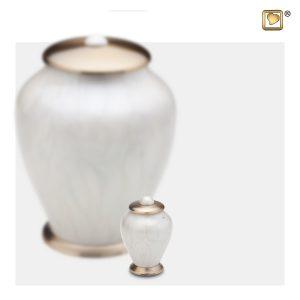 K522 - Klein Urn Simplicity Parelwit