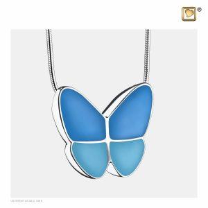 PD1201 - Ashanger Vlinder Zacht Blauw Met Zilver