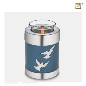 T572 - Urn Waxinelichthouder Devine Flying Doves