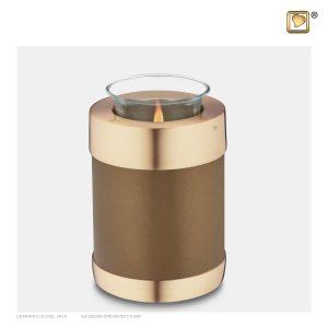 T651 - Urn Waxinelichthouder Goudbruin