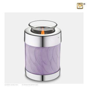 T670 - Urn Waxinelichthouder Lavendel Gemarmerd