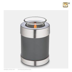T673 - Urn Waxinelichthouder Simplicity Parelwit