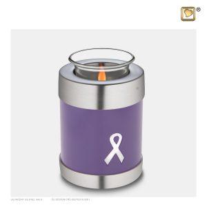 T901 - Urn Waxinelichthouder Paars Awareness